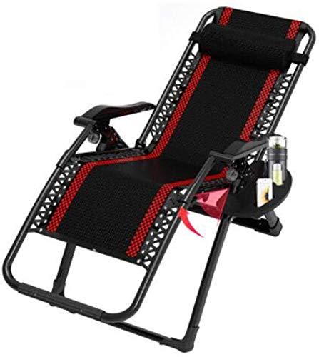 ZYLHC Silla del Patio de la Gravedad Cero Ocioso sillón reclinable Home Garden Beach Chair Sol Puede Apoyo 200Kg