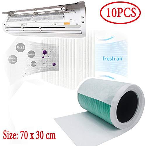 TOMATION Luftauslassfilter für Klimaanlage,Hausstaubfilter, Luftreinigung, Papierfilter,für HLK-, AC- und Heizungsansaugregister und -Gitter zur Reduzierung von Staub und Allergien,10er-Pack