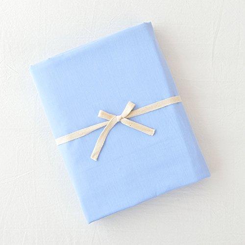UP&sleep Funda nórdica de algodón Lavado,Color sólido Reversible Ultra Soft Funda nórdica Hipoalergénico Doble Máquina Lavable Durable Que Doble-Azul Claro 120x150cm(47x59inch)