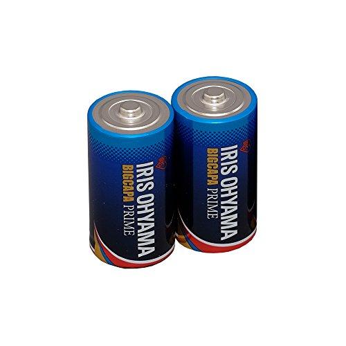 アイリスオーヤマ 乾電池 単2 アルカリ 2本パック 長寿命・大容量タイプ BIG CAPA PRIME LR14BP/2P