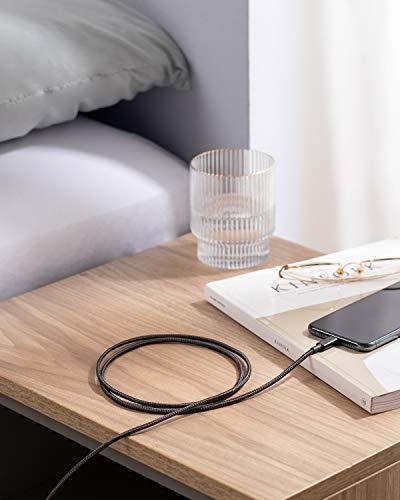 Anker iPhone Ladekabel, Lightning Kabel 1.8m 2 Pack doppelt geflochtenes Premium Nylon Lightning Kabel,[MFi Zertifiziert] für iPhone XS/XS Max/XR/X/8/8 Plus/7/7 Plus/6, iPad und weitere (Schwarz)