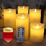 XinXinFeiEr Vela LED electrónica con control remoto de seguridad, luces nocturnas, decoración de fiesta de boda, velas de Navidad, velas de chimenea real (color: 75 x 120 mm)