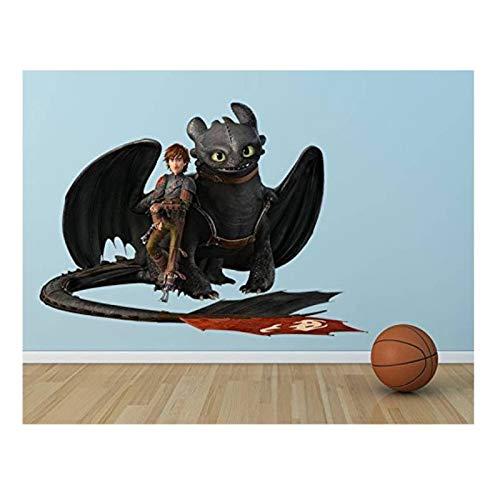 Klebefieber Wandtattoo Dragons Hicks und Ohnezahn Machen Pause B x H: 70cm x 50cm