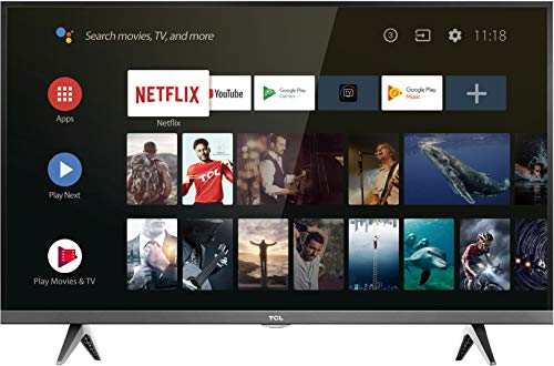TCL 32ES560 Televisor de 32 pulgadas, Smart TV con HD, HDMI, USB, WiFi y Sintonizador Triple, Color Negro