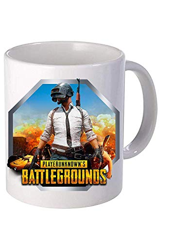 N\A Pubg Battleground Player Becher Keramikbecher für Kaffee, 11 Unzen, 330 ml (weiß)