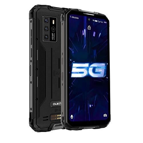 Téléphone Portable Incassable 5G,OUKITEL WP10 Smartphone 5G Antichoc Étanche Débloqué, 8Go RAM+128Go ROM,8000mAh, 6,67 Pouces, 48MP+13MP, Double SIM, Android 10 Téléphone Mobiles, NFC/GPS, Noir