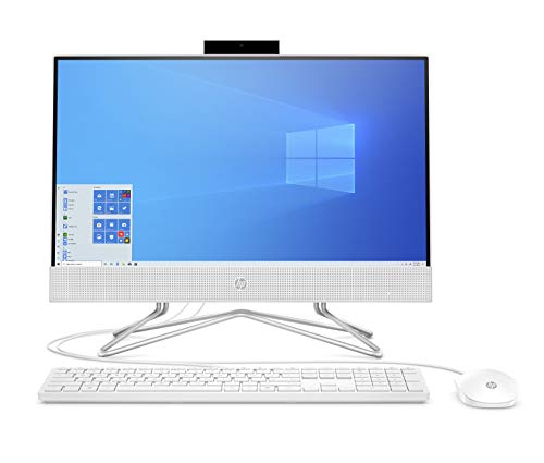 2020 Newest HP 22-inch All-in-One Desktop Computer, Dual-Core AMD Athlon Silver 3050U Processor up to 3.2GHz, Upgrade to 8 GB RAM, 256 GB SSD, Windows 10 Pro, w/RE Accessories, Snow White