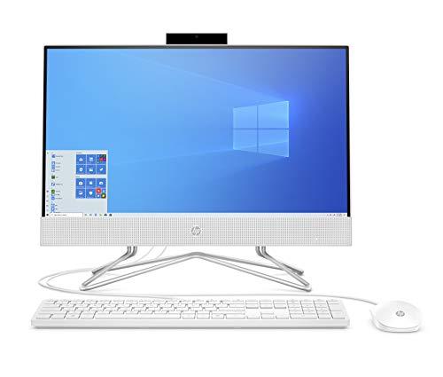 "HP 22 AIO 21.5"" FHD All-in-One Desktop Computer, AMD Athlon 3050U Up to 3.2GHz (Beats i3-7130U), 32GB DDR4 RAM, 1TB PCIe SSD, DVDRW, AC WiFi, Online Class Ready, Windows 10, BROAGE 64GB Flash Drive"