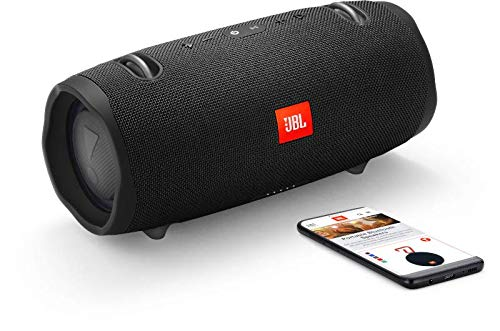 JBL Xtreme 2 Speaker Bluetooth Portatile, Cassa Altoparlante Bluetooth Waterproof IPX7, Con Microfono, Porta USB, JBL Connect+ e Bass Radiator, Fino a 15h di Autonomia, Nero