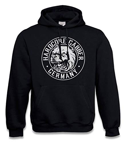 KNOW-MORE-STYLEZ Hooded Sweatshirt Hardcore Gabber Germany Dog (M)