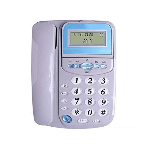 Sywlwxkq Phone Rope Office, sacudiendo la Cabeza para Girar la Pantalla Identificador de Llamadas.Diseño sin batería, Ajuste de Brillo de Fuente de Cinco Niveles, Interfaz Dual.