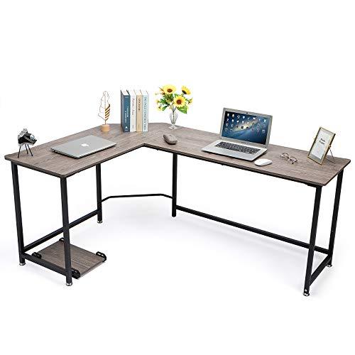 Injoy Life, escritorios de oficina en casa en forma de L, escritorio de esquina para computadora portátil, mesa de escritura, escritorio moderno de oficina en casa, mesa de estudio de madera