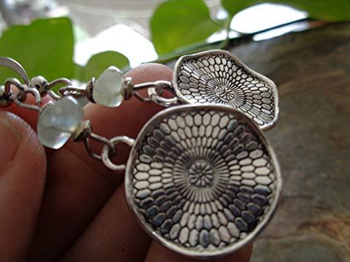 ✿ GRÜNER STEIN BOHO ETHNO MANDALA ✿ Ohrringe - einmaliges Geschenk - handgefertigt