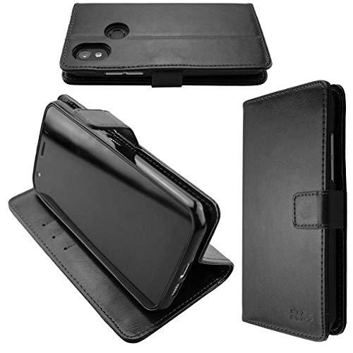 caseroxx Handy Hülle Tasche kompatibel mit Cat S52 Bookstyle-Hülle Wallet Hülle in schwarz