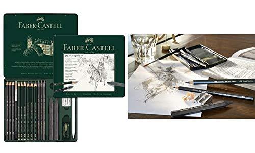 FABER-CASTELL PITT GRAPHITE - Estuche de 19 piezas