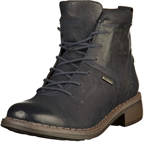 Josef Seibel Damen Combat Boots Selena 50,Weite G (Normal),lose Einlage,wasserdicht,Woman,Lady,Ladies,Boots,Stiefel,Bootee,Blau (Ocean),39 EU / 6 UK