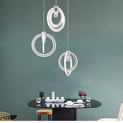 Lámpara De Araña De Anillo De Tres Cabezas 23 * 25 Cm Nordic Moderno Restaurante Minimalista Cafetería Salón Comedor Lámpara Colgante Yang1mn