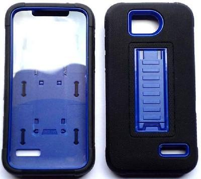 [ NP ARMOR ] Built-in Screen Guard Protector Faceplate Phone Case arBLACK/Blue for ZTE Atrium / Z793C / ZTE Scend LTE / Z791g / ZTE Overture 2 / Z813 / ZTE Maven/ZTE Fanfare Z812