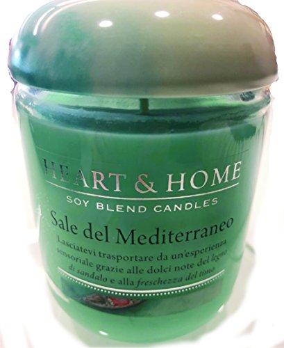 HEART & HOME - Bougie de soja 340 g. - Sel de la Méditerranée