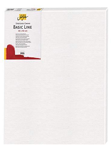Kreul 64060 - Solo Goya Stretched Canvas Basic Line, Keilrahmen 40 x 60 cm, mit Leinwand aus Baumwolle 4 fach grundiert, ideal für Öl, Acryl-und Gouachefarben