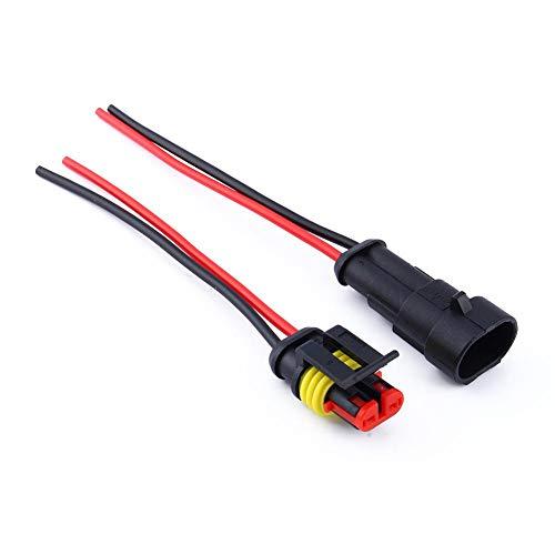 Keenso 2 Pin Weg Auto wasserdichte Drahtverbinder Stecker elektrische elektrische Drahtverbinder AWG Marine Pack