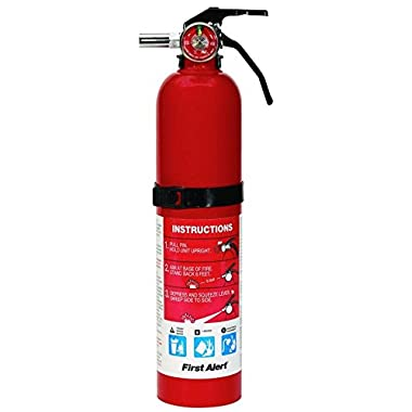 First Alert 2.5 Pound Rechargeable Fire Extinguisher - HOME1-1-A:10-B:C - 10 -Year Warranty
