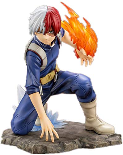 TQGG My Hero Academia Shoto Todoroki PVC Figura 1/8 Escala Anime Juguete en Caja Modelo