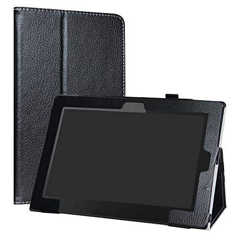 LiuShan Hoes voor Lenovo Tablet 10 2018 Edition, Slim PU lederen tas en opvouwbare standaard Folio Cover Case Hoesje voor 10.1