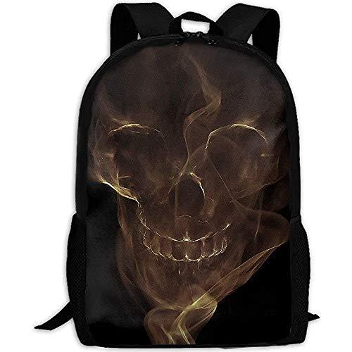 Hdadwy Backpack,Smoke Skull of Ocean Pirate Adult Travel Backpack School Casual Daypack Oxford Outdoor Laptop Bag College Computer Shoulder Bags