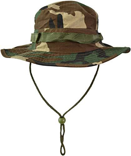 Australian Outdoor Hut Boonie Hat in vielen Farben und Grössen Farbe Woodland Größe XL