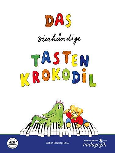 Das vierhändige Tastenkrokodil Leichte Klavierstücke für Kinder (EB 8562): Leichte Klavierstücke zu vier Händen. Easy Piano Pieces for Four Hands