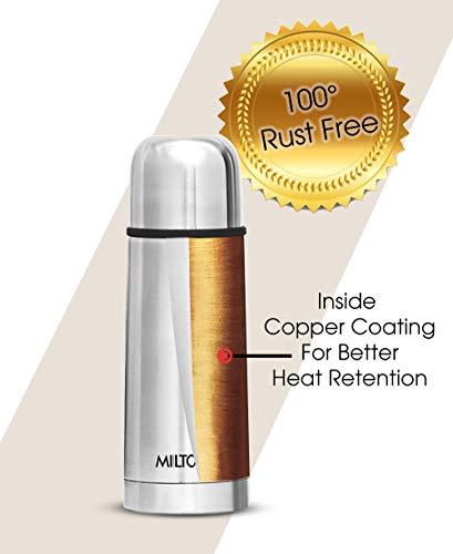 Milton Thermosteel Flip Lid Flask, 350 milliliters, Silver