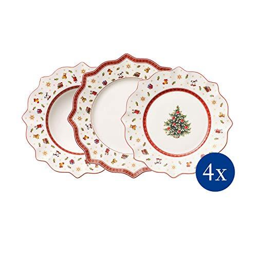 Villeroy & Boch Toy's Delight Servicio De Mesa para hasta 4 Personas, Porcelana Premium, Blanco/Multicolor, 12-Piezas