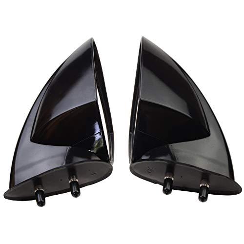 WOOSTAR Side View Mirrors Replacement for Yamaha PWC WaveRunner VX110 2005-2009 Deluxe, Sport, 2007-2009 WaveRunner VX110 Cruiser Black Pack of 2