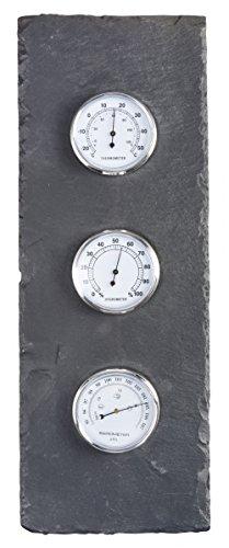Esschert Barometer aus Schiefer, grau, LS052