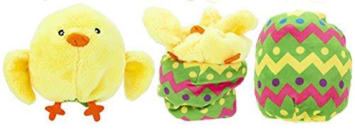 Homestreet Peluche de pollito en un huevo, reversible de Pascua se pliega en un huevo de Pascua.