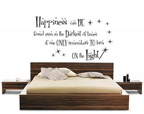 Sticker mural Citation Harry Potter Happiness, Vinyle, 115x64cm