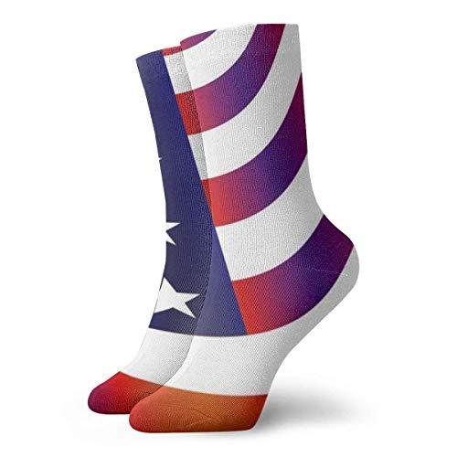 Osmykqe Bandera americana ondulada Calcetines con personalidad clásica Calcetines deportivos deportivos Calcetines largos de 30 cm para hombres y mujeres