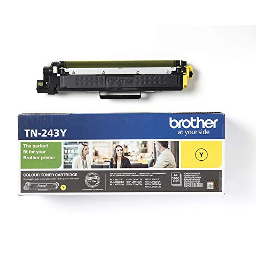 Brother TN-243Y Tonerkassette (für Brother DCP-L3510CDW, DCP-L3550CDW, HL-L3210CW, HL-L3230CDW, HL-L3270CDW, MFC-L3710CW, MFC-L3730CDN, MFC-L3750CDW und MFC-L3770CDW) gelb