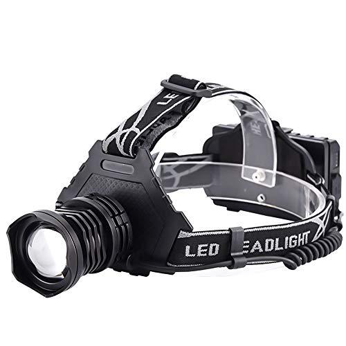 Linterna Frontal Led Recargable por USB, 5 Modos Linterna Frontal De Alta Potencia con Zoom, Linterna Frontal Superbrillante Impermeable, Ajustable a 90 °, para Pesca, Jogging, Senderismo