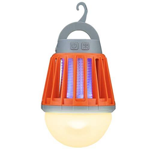MAGNA(マグナ) 電撃殺虫器 LEDライト ランタン 充電式 大容量 2000mAh 虫がついても丸洗いOK 完全防水 IPX6 国内メーカー保証 (レッド)