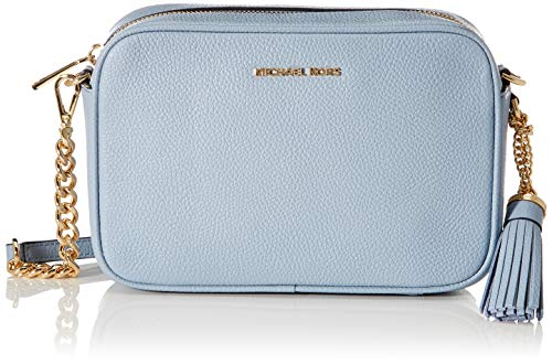 Michael Kors Soft mercer, kamer bolsillo para Mujer, Cuero azul, Einheitsgröße