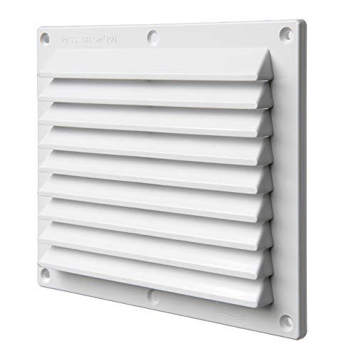 La Ventilazione B1714B Griglia di Ventilazione in plastica bianca, rettangolare da sovrapporre. Dimensioni 175x146 mm