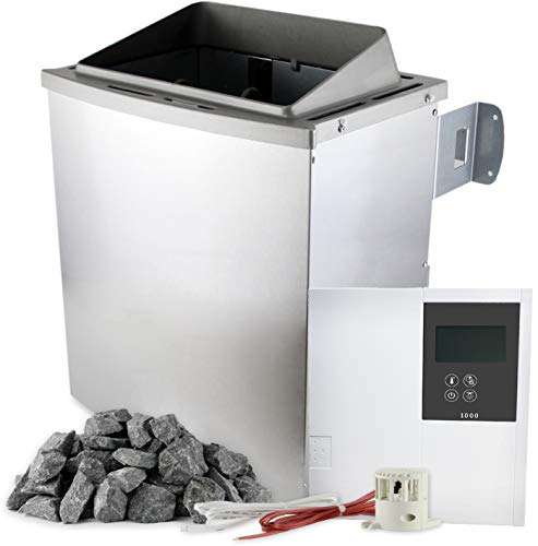 SULENO Saunaofen PORI 9,0 kW Saunasteuerung wählbar 20kg Saunasteine Saunaheizgerät
