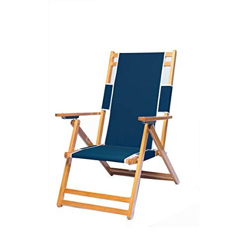 Frankford Umbrellas Heavy Duty Commercial Grade Oak Wooden Beach Chair Folding Wood