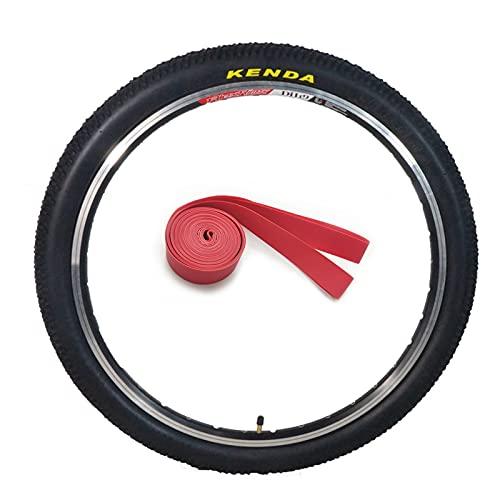 LDFANG Neumático de Repuesto para Bicicleta de 24/26/27,5 x 1,95 Pulgadas, con Revestimiento para neumáticos, neumático para Bicicleta de montaña,24 * 1.95