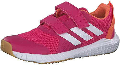 adidas Unisex-Child Fortagym Cf K Indoor Court Shoe, Real Magenta/Cloud White/Semi Coral, 31 EU