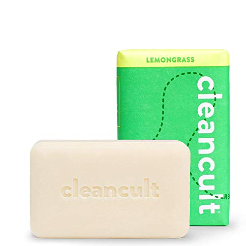 Cleancult Natural Soap Bar for Hands Body & Face, Fresh Lemongrass Scent, Sensitive Skin Safe Formula, Cruelty Free, Biodegradable Eco Friendly Non Toxic Moisturizing for Men and Women 5 oz Bar