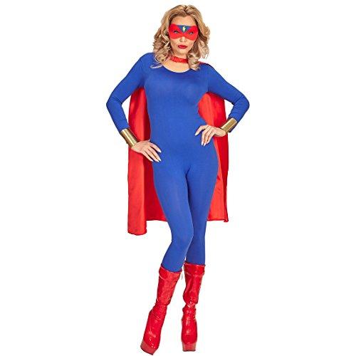 Amakando Cape avec Masque | Costume de Super-héros | Equipement héro avec Symbole Flash sur Maske | Costume de Super-héros et Compagnie