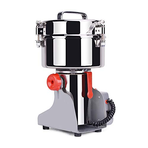SEAAN Electric grain mill stainless steel grain spices cereals coffee food mill machine 500 g